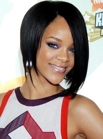 Rihanna long bob hairstyle