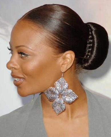 Sleek Bun Hairstyle for Black Women