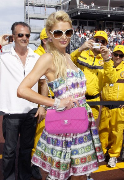 Long Bride Hairstyle from Paris Hilton at Monaco