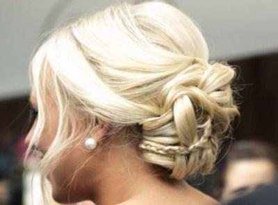 Bun with micro braid woven