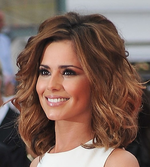 Cheryl Cole Wavy Curly Hairstyle  Hairstyles Weekly