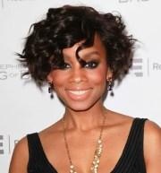 curly bob hairstyle black women