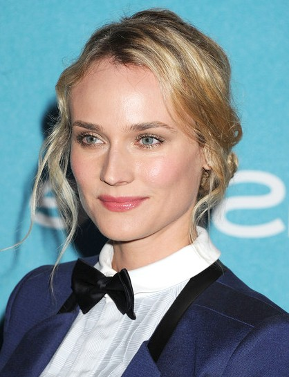 Diane Kruger Twisted Hairstyle