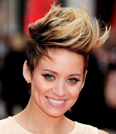 Medium Length Faux Hawk Hairstyle for  Women