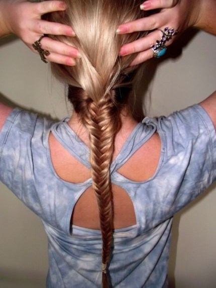 Fishtail Braid Hairstyle for Girls