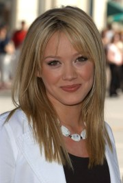 hilary duff long straight hairstyle