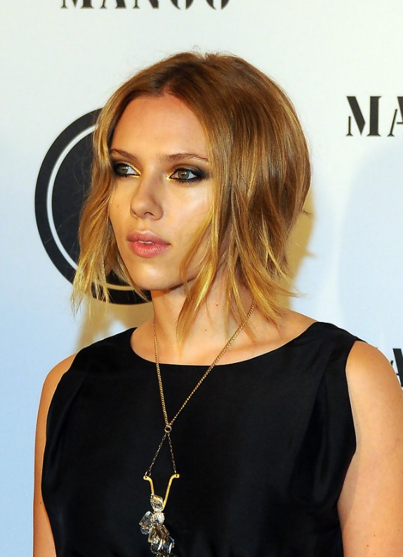 Celebrity Long Inverted Bob Hairstyle