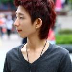 Korean Guys Short Red haircut 2013