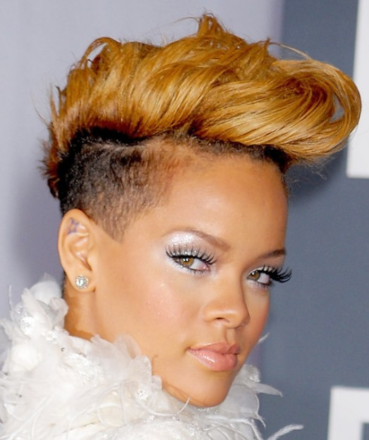 Rihanna Latest Short Haircut Fauxhawk Hairstyle Hairstyles Weekly