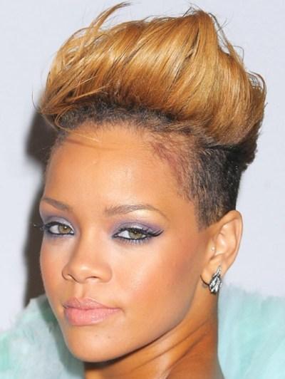 Rihanna Latest Short Haircut :Fauxhawk