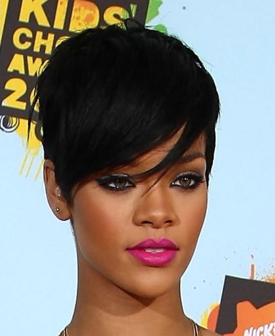 Rihanna Short Black Haircut