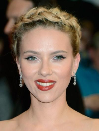 Scarlett Johansson Braided Updo