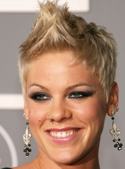Trendy Short Faux Hawk Hairstyle for Female