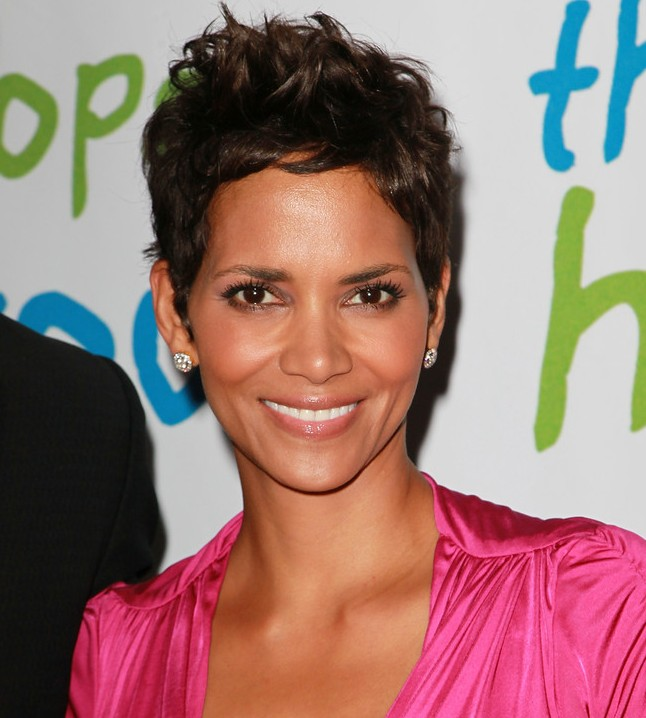 Short Messy Haircut from Halle Berry