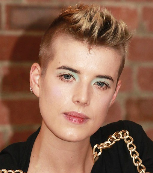 2013 Spiky Faux Hawk Hairstyle for women