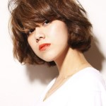 Curly Japanese Hairstyle for thick hair
