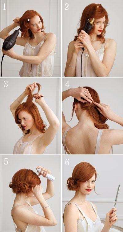 Side Chignon for Medium-Length Hair