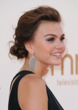 Aimee Teegarden Simple Casual Messy Updo for Long Hair