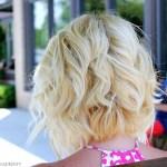 Back View of Angled Piecey Bob Haircut - Wavy Bob Cut for 2014