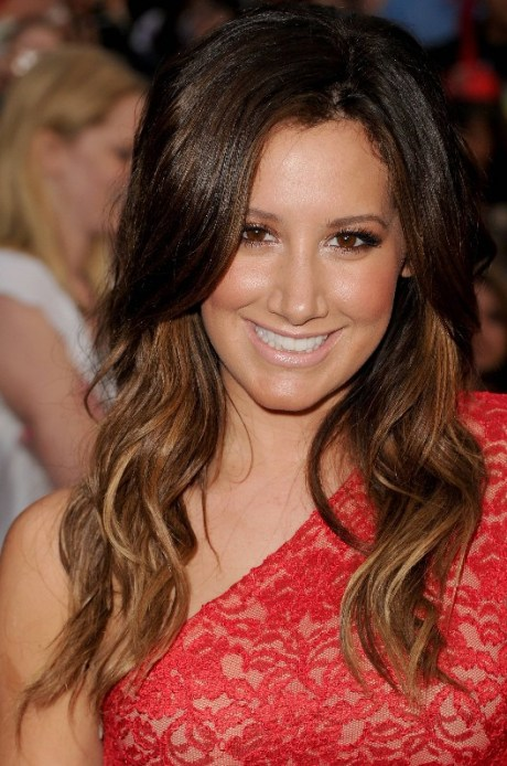 Ashley Tisdale Long Ombre Hair Style