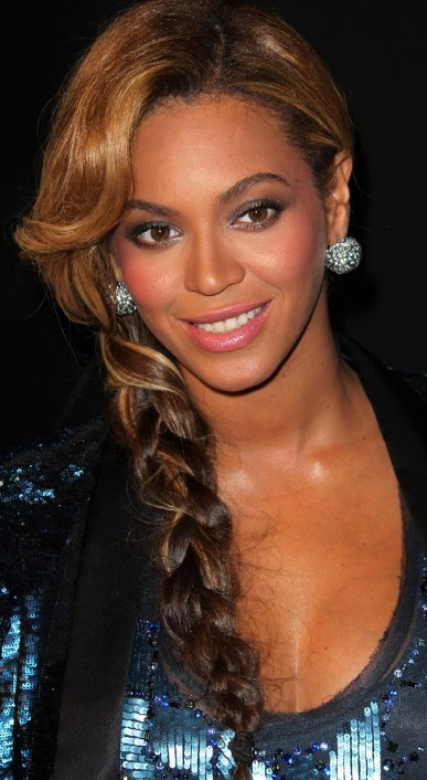 Beyonce Knowles Casual Long Braided Hairstyle  Hairstyles