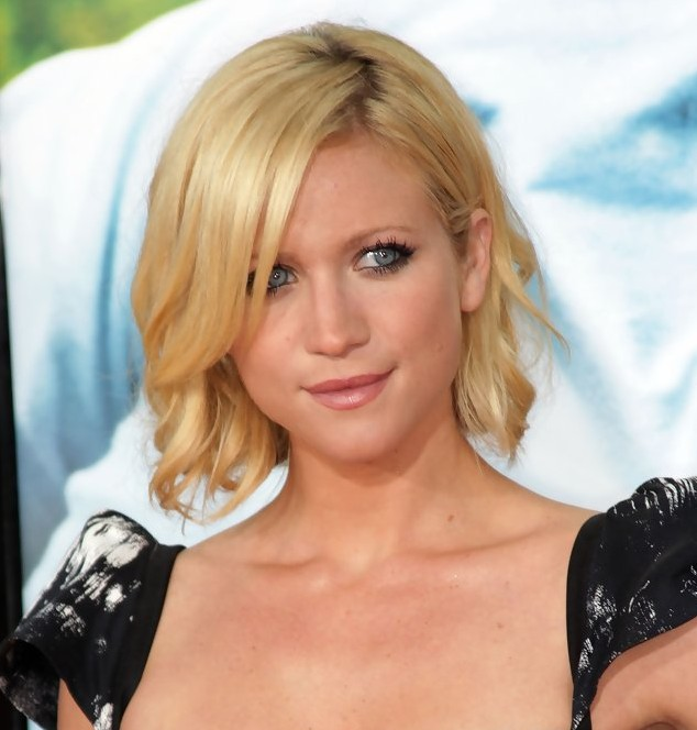 Brittany Snow short bob haircut with side fringes