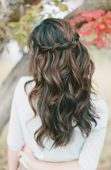 Chic Waterfall Braid Hairstyle