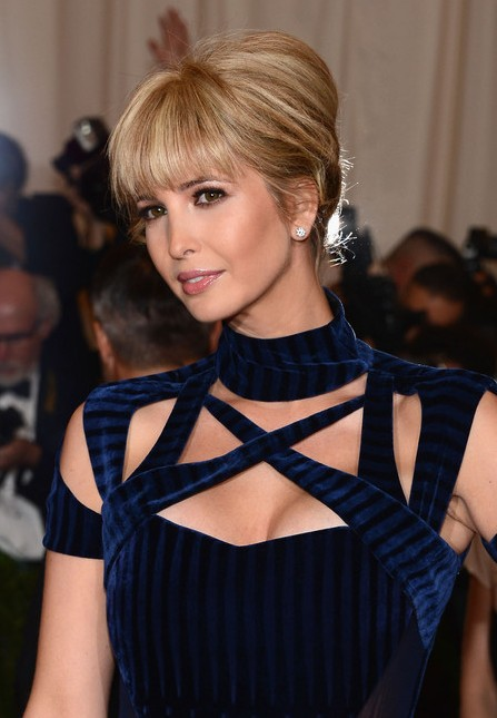 Classic French Twist with Lash-Grazing Bangs