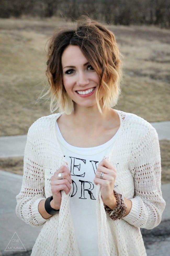 Cute Short Ombre Hair for Women