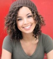 cute medium wavy curly hairstyle