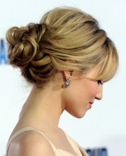 romantic loose bun updo