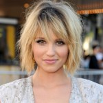 Dianna Agron sexy layered bob hairstyle
