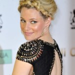 Elizabeth Banks Messy Braided Updo 2013