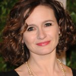Emily Mortimer Layered Curly Hairstyle