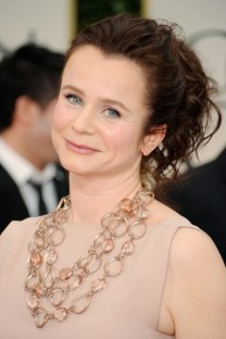 Celebrity Emily Watson Casual Loose Ponytail Hairstyle 2013