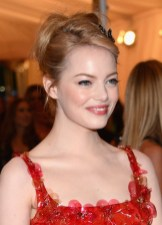 Emma Stone Beautiful Updo Hairstyle for Homecoming from Emma Stone