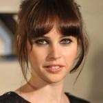 Felicity Jones Cute Hairstyles 2013