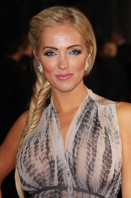 Fish Bone Braid for Long Hair - Formal Updo Hairstyle With Braid
