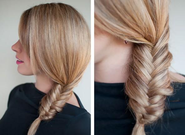 Fishtail Side Braid Hairstyles 2013