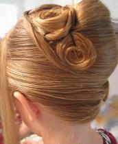 French Twist for Wedding:Rose Twist