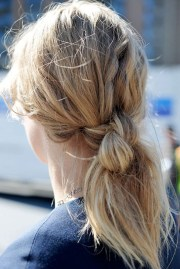 view of double hair knot