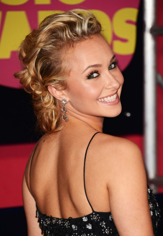 Latest Celebrity Bobby Pinned Updo Hairstyles for Women 2013