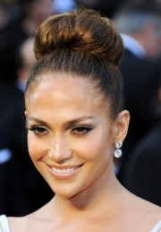jennifer lopez formal bun hairstyle
