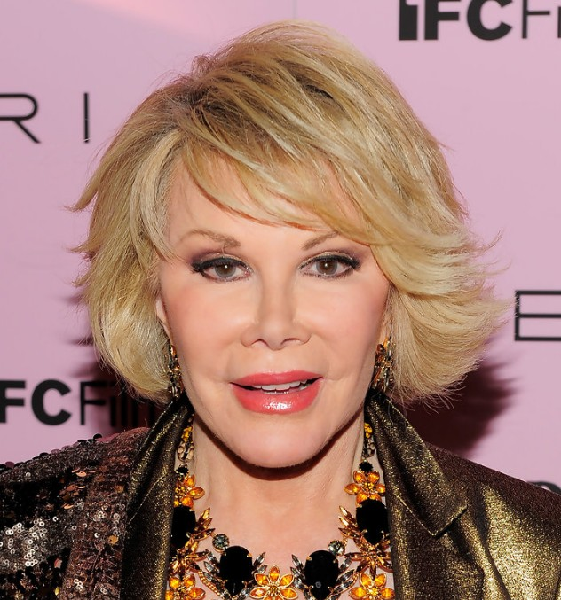 Joan Rivers Short Hairstyle With Side Swept Bangs Hairstyles Weekly