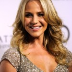 Julie Benz Layered Long Middle Part Hairstyle