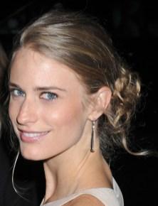 Julie Henderson Casual Messy Updo Bun 2013