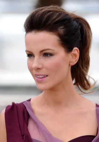 Kate Beckinsale Simple Easy Ponytail Hairstyle