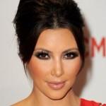 Kim Kardashian Formal French Twist Updo Hairstyle