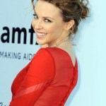 Kylie Minogue Hairstyles: Sexy Wavy Bobby Pinned Updo for Short Hair