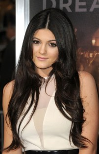 Long Black Center Part Hairstyle